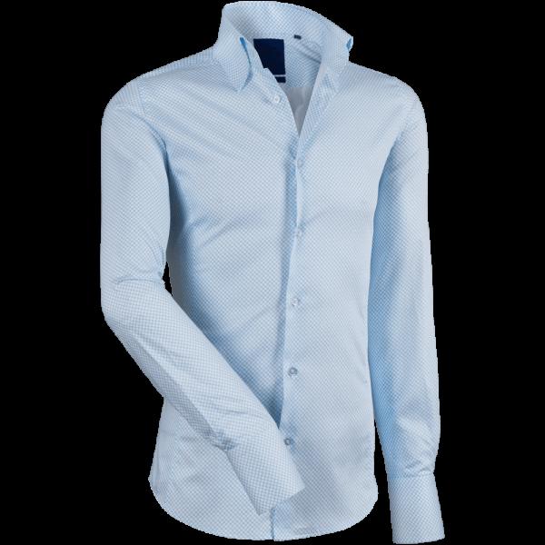 Hemd JAN -weiß/blau