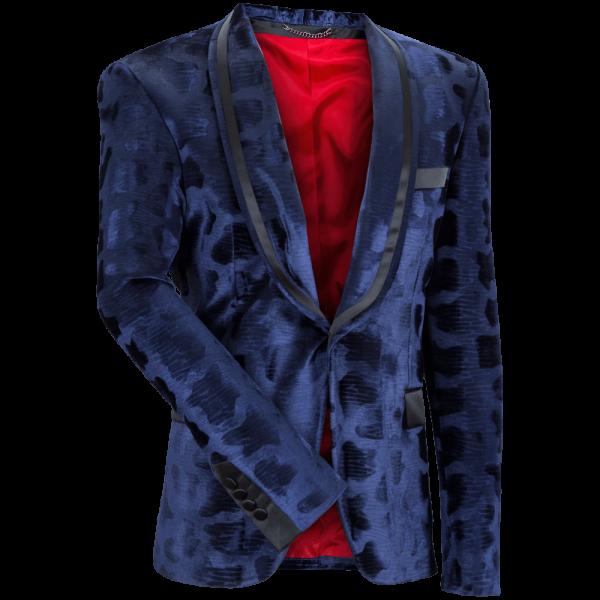 Samt-Sakko CHARLY 2.0 -blau-