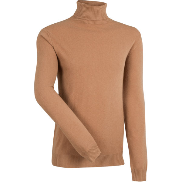 Rollkragen-Pullover mit Kaschmir -camel-