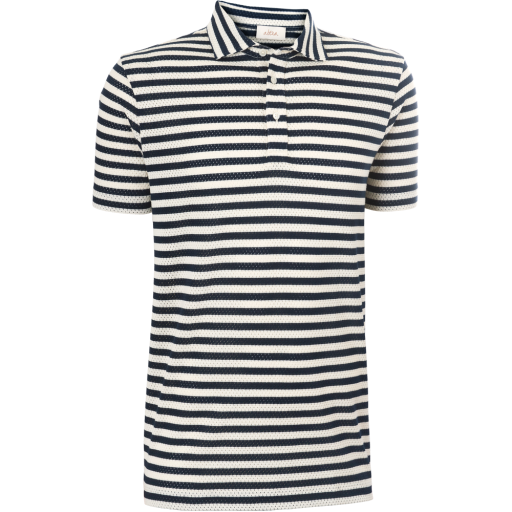 Poloshirt mit Streifen -blau-