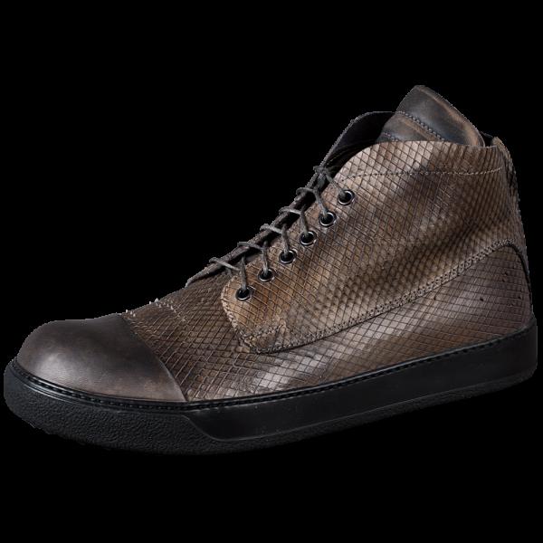 Pferdeleder Sneaker -grau/braun-