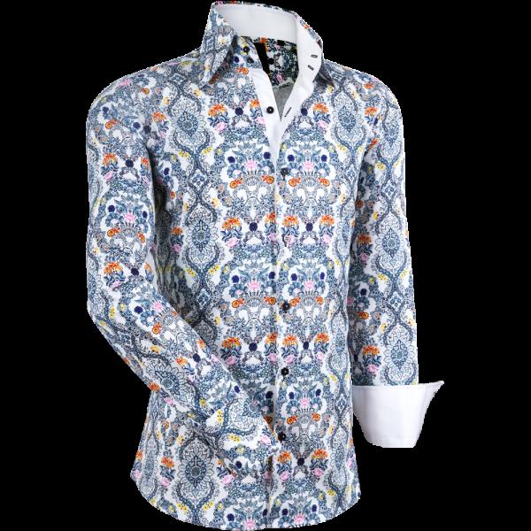 Hemd HEIN -blue Florals-