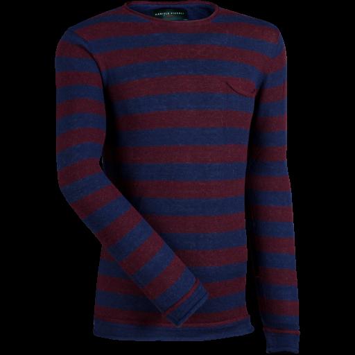 Rundhalsshirt -rot/blau-